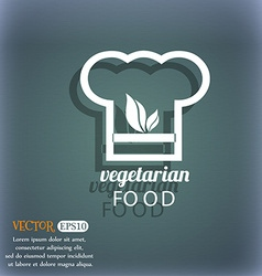 Vegan food graphic design icon On the blue-green vector image