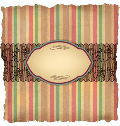 Vintage stripes lace background vector image vector image