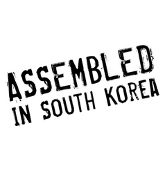 Assembled in south korea rubber stamp vector
