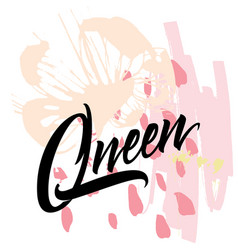 Queen abstract for t-shirt vector