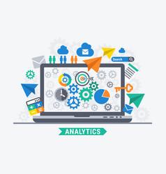 Analytic progress vector