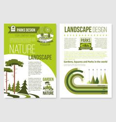 Brochure for nature landscape design vector