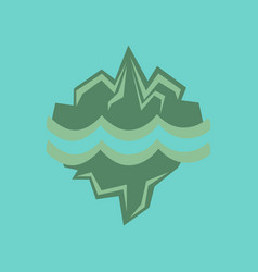 Flat icon on stylish background melting glacier vector