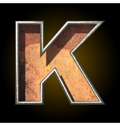 Old metal letter k vector
