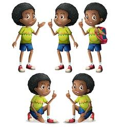 Five Black boys vector image