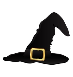 Witch hat for halloween vector