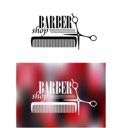 Retro barber shop icon vector
