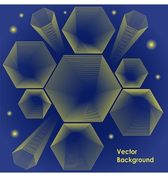 Hexagon design backround vector