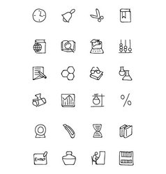 Education hand drawn doodle icons 5 vector