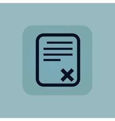 Pale blue declined document icon vector