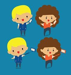 Selfie photo on smart phone vector