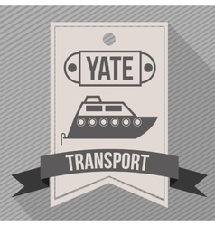 Means of transport design vector
