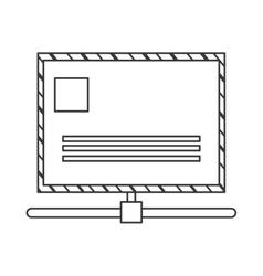 Closed envelope icon vector