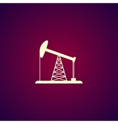 Oil rig icon vector