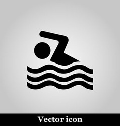Swimming icon sign on grey background vector