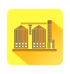 Tower plant icon flat style vector