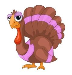 Cartoon character turkey vector