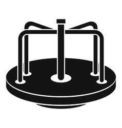 Children merry go round icon simple style vector