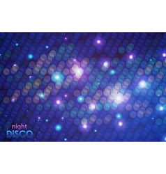 Disco neon background vector image