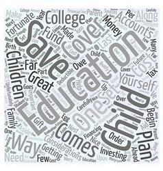 Educational savings accounts word cloud concept vector