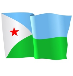flag of Djibouti vector image vector image