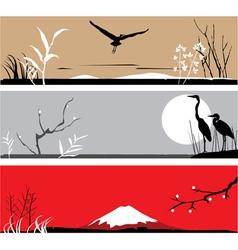 Heron banners vector