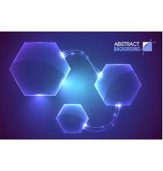 Hexagon system futuristic background vector