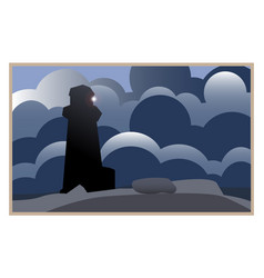 Lighthouse guide in the fog of life vector