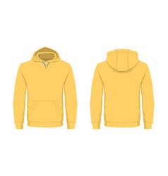 mens yellow hoodie vector image vector image
