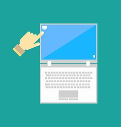 Notebook computer icon vector image