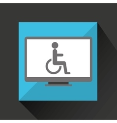 Pc device medical concept disabled wheelchair vector