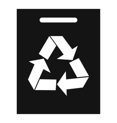 Recycling icon simple style vector image vector image