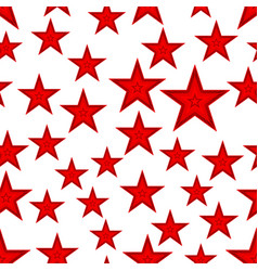 red star seamless pattern vector image vector image