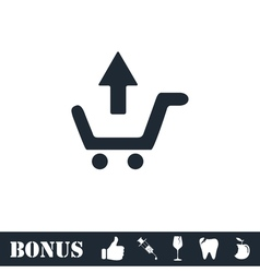 Remove Shopping Cart icon flat vector image vector image