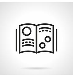 Scientific journal simple line icon vector image vector image