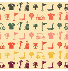 Seamless background with golf icons vector image