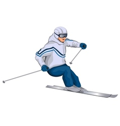 skier vector image