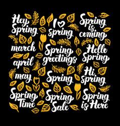 Spring calligraphy design vector