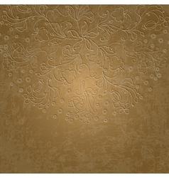 Stylish luxury wedding floral background stylized vector image