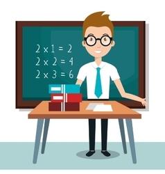 Teacher school classroom icon vector