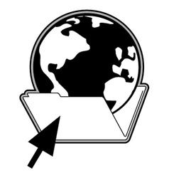 Web in folder vector