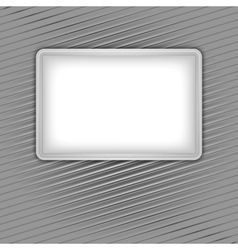 white blank shape on corduroy background vector image
