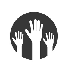 open hands icon vector image