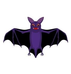 cartoon isolated flying halloween bat vector image