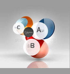 colorful glossy circle infographics vector image