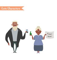 lovely elderly couple vector image