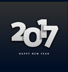 2017 happy new year lettering in 3d style vector