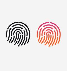 Id app icon set fingerprint for vector