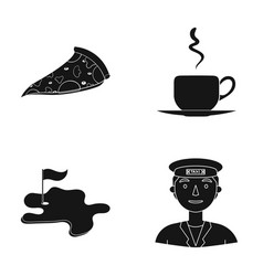 Driver trip cafe and other web icon in black vector