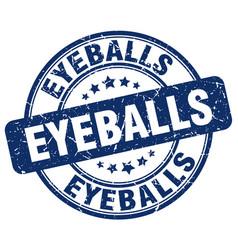 Eyeballs blue grunge stamp vector